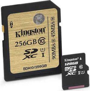 Kingston 256GB Class 10 UHS-I SDXC