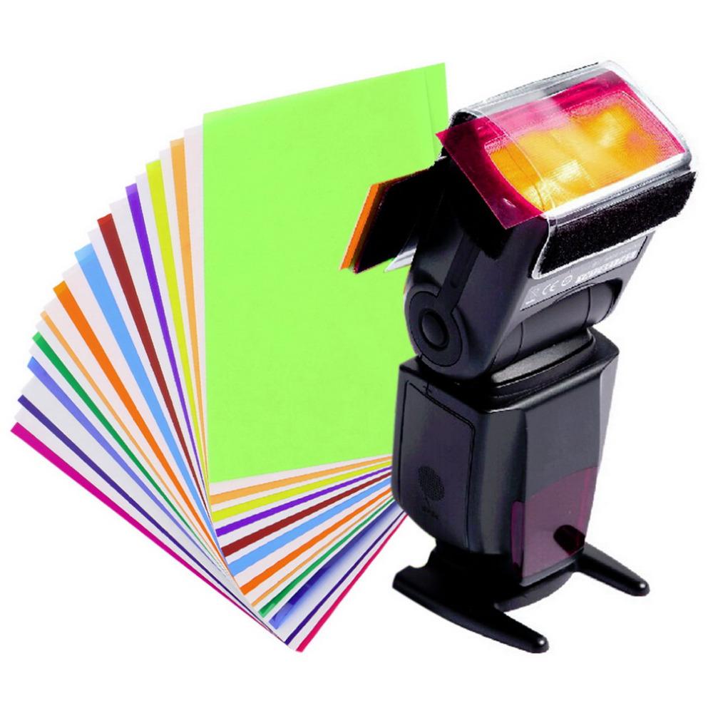 цветно фильтр на вспышке